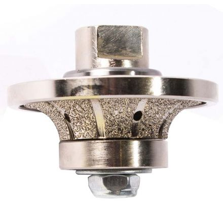 Specialty Diamond 12RPW 1/2 Inch Radius Vacuum Brazed 65mm Premium Diamond Profile Wheel with 5/8 Inch x 11 Female Threads