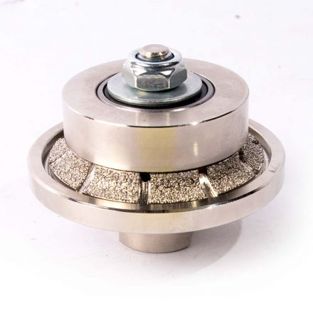 Specialty Diamond 316RPW 3/16 Inch Radius Vacuum Brazed 65mm Premium Diamond Profile Wheel with 5/8 Inch x 11 Female Threads