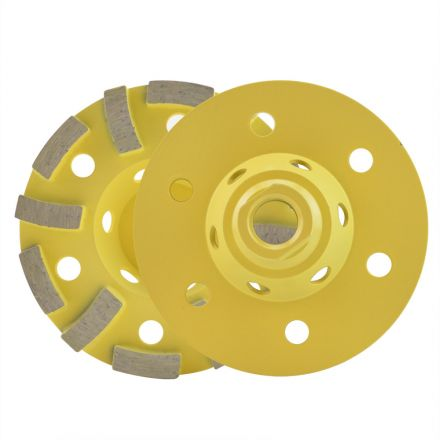 Specialty Diamond 4STRCW 4 Inch Single Row & Turbo Segmented Hybrid Diamond Cup Grinding Wheel