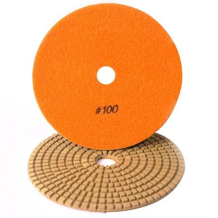 Specialty Diamond 7100WPAD 7 Inch 100 Grit Wet Diamond Polishing Pad (7100WETPAD)