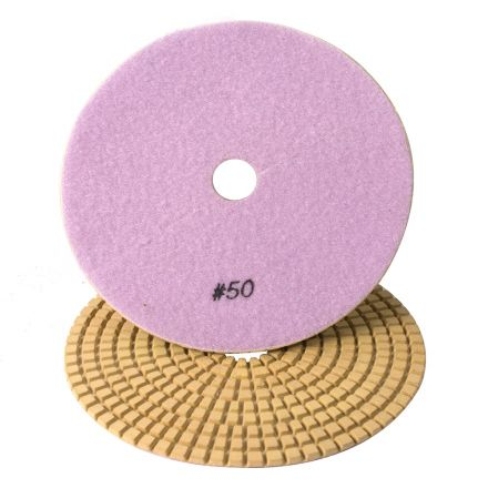 Specialty Diamond 750WPAD 7 Inch 50 Grit Wet Diamond Polishing Pad (750WETPAD)