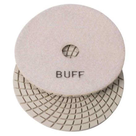 "Specialty Diamond 7WBUFF 7"" white Buffing pad"