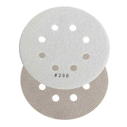 Specialty Diamond BRTD6200 6 Inch 200 Grit Thin Electroplated Dry Pad for Orbital Sanders