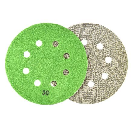 Specialty Diamond BRTD630 6 Inch 30 Grit Thin Electroplated Dry Pad for Orbital Sanders