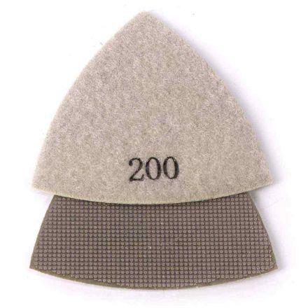Specialty Diamond BRTRI200 200 Grit Electroplated Diamond Triangular Polishing Pad for Oscillating Tools