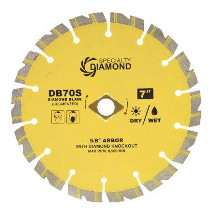 Specialty Diamond DB70S 7 Inch Performance Dry or Wet Cutting General Purpose Segmented Diamond Blade
