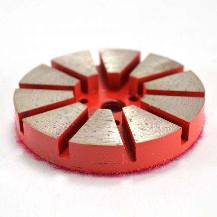 Specialty Diamond PP330 3 Inch Metal Bond Diamond Concrete Floor Grinding Disc with 10 Diamond Segments - 30 Grit