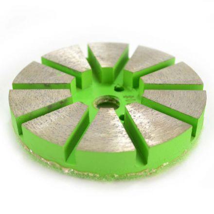 Specialty Diamond PP380 3 Inch Metal Bond Diamond Concrete Floor Grinding Disc with 10 Diamond Segments - 80 Grit