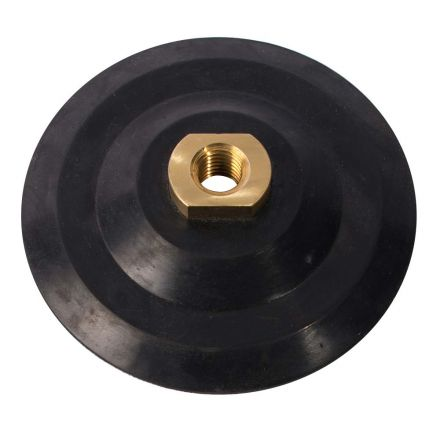 Specialty Diamond PP50 5 Inch Rubber Backing Pad with Hook & Loop and 5/8 Inch-11 Female Brass Nut (5PADADAPT)