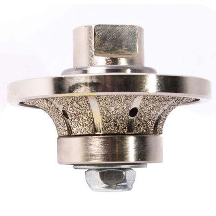 Specialty Diamond 34RPW 3/4 Inch Radius Vacuum Brazed 75mm Premium Diamond Profile Wheel with 5/8 Inch x 11 Female Threads