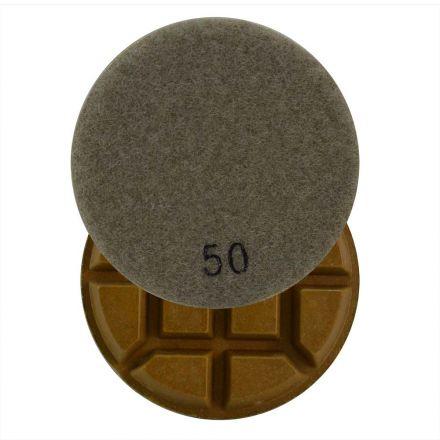 Specialty Diamond 350FPAD Resin Dry/Wet Floor Polishing Diamond Pad, 3 Inch 9mm Thick, 50 Grit