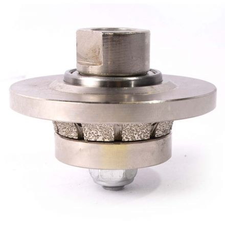 Specialty Diamond 38RPW 3/8 Inch Radius Vacuum Brazed 65mm Premium Diamond Profile Wheel with 5/8 Inch x 11 Female Threads