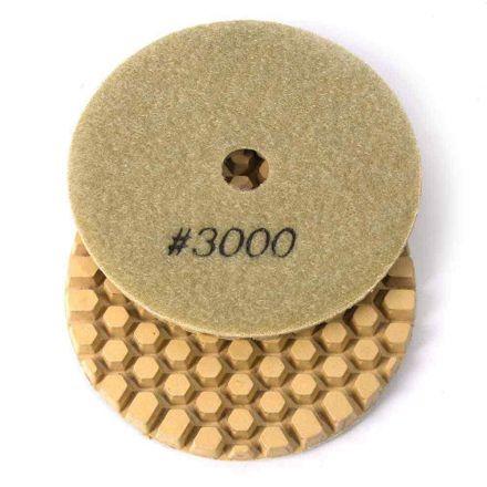 "Specialty Diamond BRTD43000 4"" Dry Concrete Polishing DGEX Pad, 6mm - 3000 Grit"