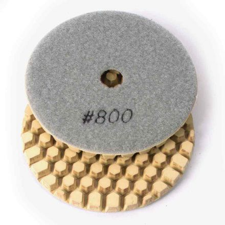 Specialty Diamond BRTD4800 4 Inch 800 Grit Dry DHEX Concrete Countertop Wet Dry Polishing Pad 6mm