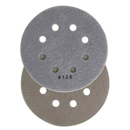Specialty Diamond BRTD6120 6 Inch 120 Grit Thin Electroplated Dry Pad for Orbital Sanders