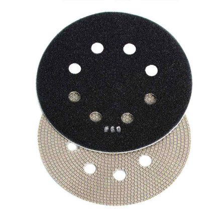 Specialty Diamond BRTD660 6 Inch 60 Grit Thin Electroplated Dry Pad for Orbital Sanders