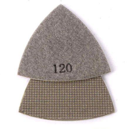 SpecialtyDiamond BRTRI120 120 Grit Electroplated Diamond Triangular Polishing Pad for Oscillating Tools
