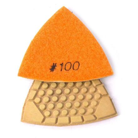 Specialty Diamond BRTTD100 100 Grit Diamond Triangular Dry Pad