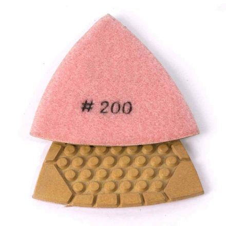 Specialty Diamond BRTTD200 200 Grit Diamond Triangular Dry Pad