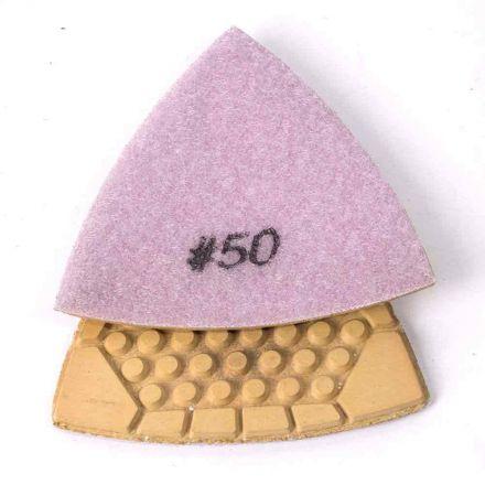Specialty Diamond BRTTD50 50 Grit Diamond Triangular Dry Pad