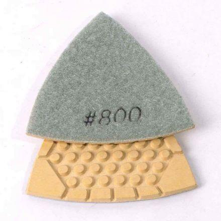 Specialty Diamond BRTTD800 Oscillating Detail Diamond Triangular Dry Pad, 800 Grit Concrete Countertops