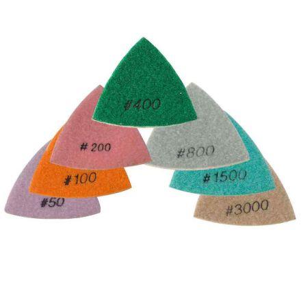 Specialty Diamond BRTTDSET 7 Pcs Diamond Triangular Dry Polishing Pad Set