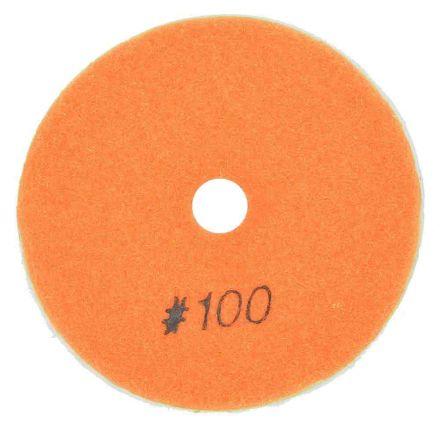 "Specialty Diamond BRTW4100 4"" Diamond Wet Polishing Pad, 3mm Thick 100 Grit"