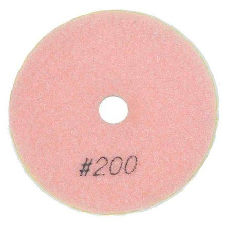 "Specialty Diamond BRTW4200 4"" Diamond Wet Polishing Pad, 3mm Thick 200 Grit"