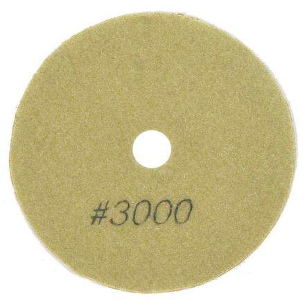 "Specialty Diamond BRTW43000 4"" Diamond Wet Polishing Pad, 3mm Thick 3000 Grit"