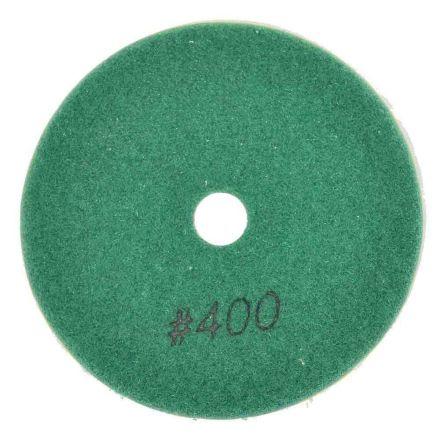 "Specialty Diamond BRTW4400 4"" Diamond Wet Polishing Pad, 3mm Thick 400 Grit"