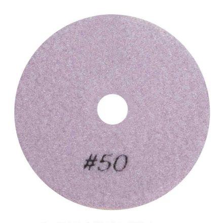"Specialty Diamond BRTW450 4"" Diamond Wet Polishing Pad, 3mm Thick 50 Grit"