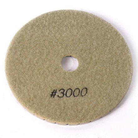 "Specialty Diamond BRTW53000 Premium Wet Polishing Pad, 5"" 3000 Grit - 6mm"