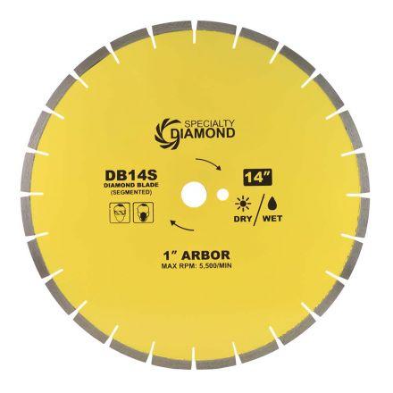 Specialty Diamond DB140S 14 Inch Diameter General Purpose Premium Segmented Diamond Blade