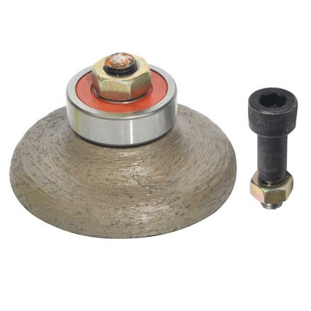 Specialty Diamond F20VBPW 3/4 Inch Ogee Bullnose Vacuum Brazed Diamond Profile Wheel with 5/8 Inch x 11 Female Spindle
