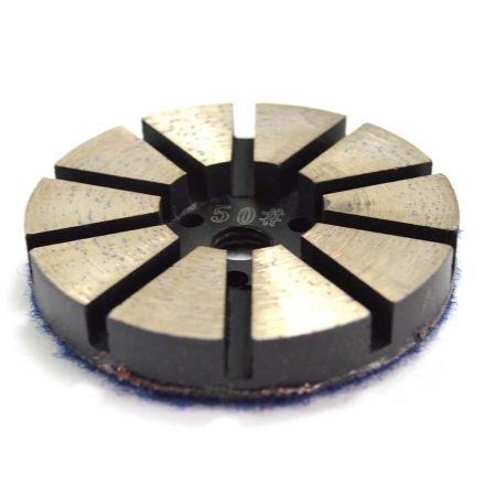 Specialty Diamond PP350 3 Inch Metal Bond Diamond Concrete Floor Grinding Disc with 10 Diamond Segments - 50 Grit