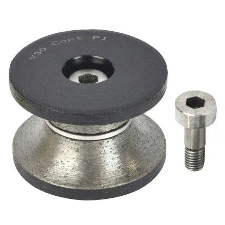 Specialty Diamond V30BIT 1-1/4 Inch Stone Router V30BIT Bullnose Bit For Shaping Grinding Granite Tools