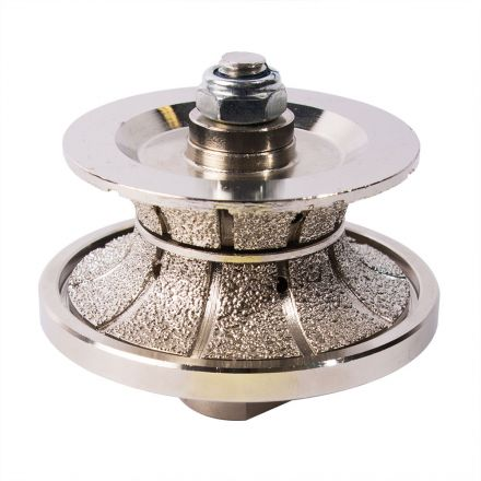 Specialty Diamond V40FBPW 1-1/2 Inch Full Bullnose Vacuum Brazed Diamond Profile Wheel with 5/8 Inch-11 Female Threads