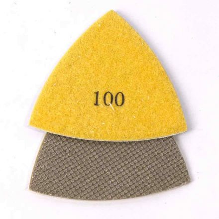 Specialty Diamond MB1S-Multimaster 100g Electroplated Triangular Diamond Polishing Pad for Oscillating Tools Compatible With Fein Multimaster