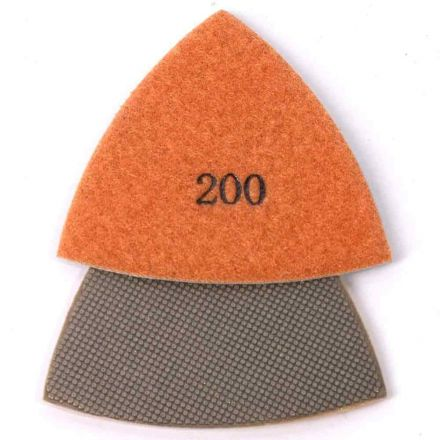 Specialty Diamond MB1T Multimaster 200g Electroplated Triangular Diamond Polishing Pad for Oscillating Tools Compatible With Fein Multimaster